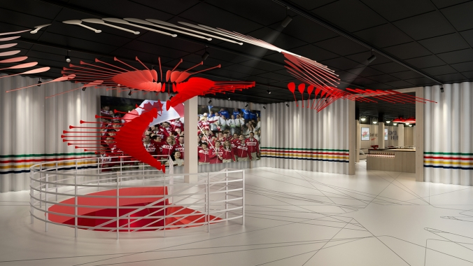 Rio 2016: Canada Olympic House rendering of the HBC Welcome Hall.