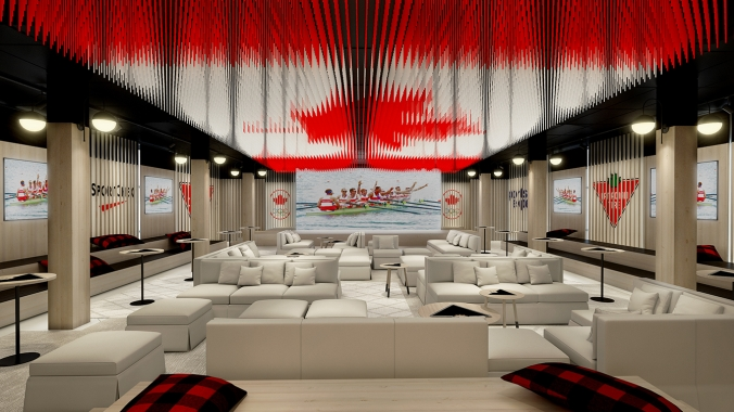 Rio 2016: Canada Olympic House rendering of Canadian Tire/Sport Chek | Molson Canadian Celebration Lounge