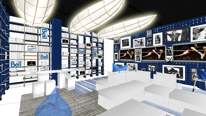 Rio 2016: Canada Olympic House rendering of Bell Lounge/Samsung Honour Library.