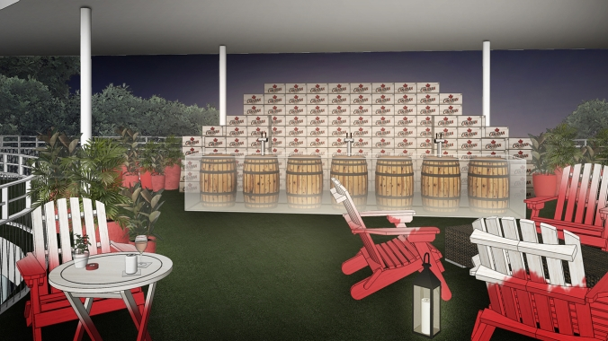 Rio 2016: Canada Olympic House rendering of the Molson Outdoor Bar.