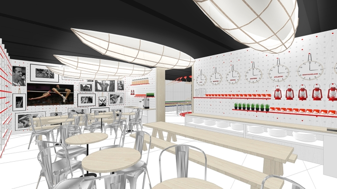 Rio 2016: Canada Olympic House rendering of the Petro-Canada Pantry.