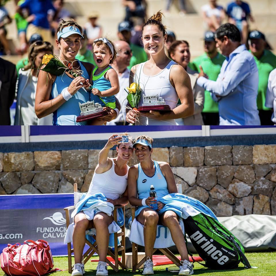 Gabriela Dabrowski (left bottom) and Maria Jose Martinez (Photo via Mallorca Open).