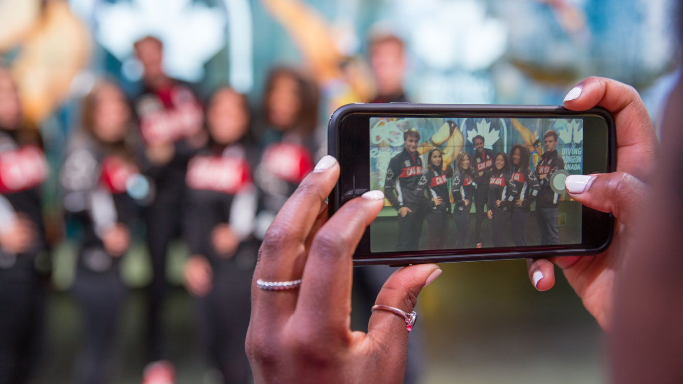 The Rio 2016 diving team through a lens on June 13, 2016 in Montreal.