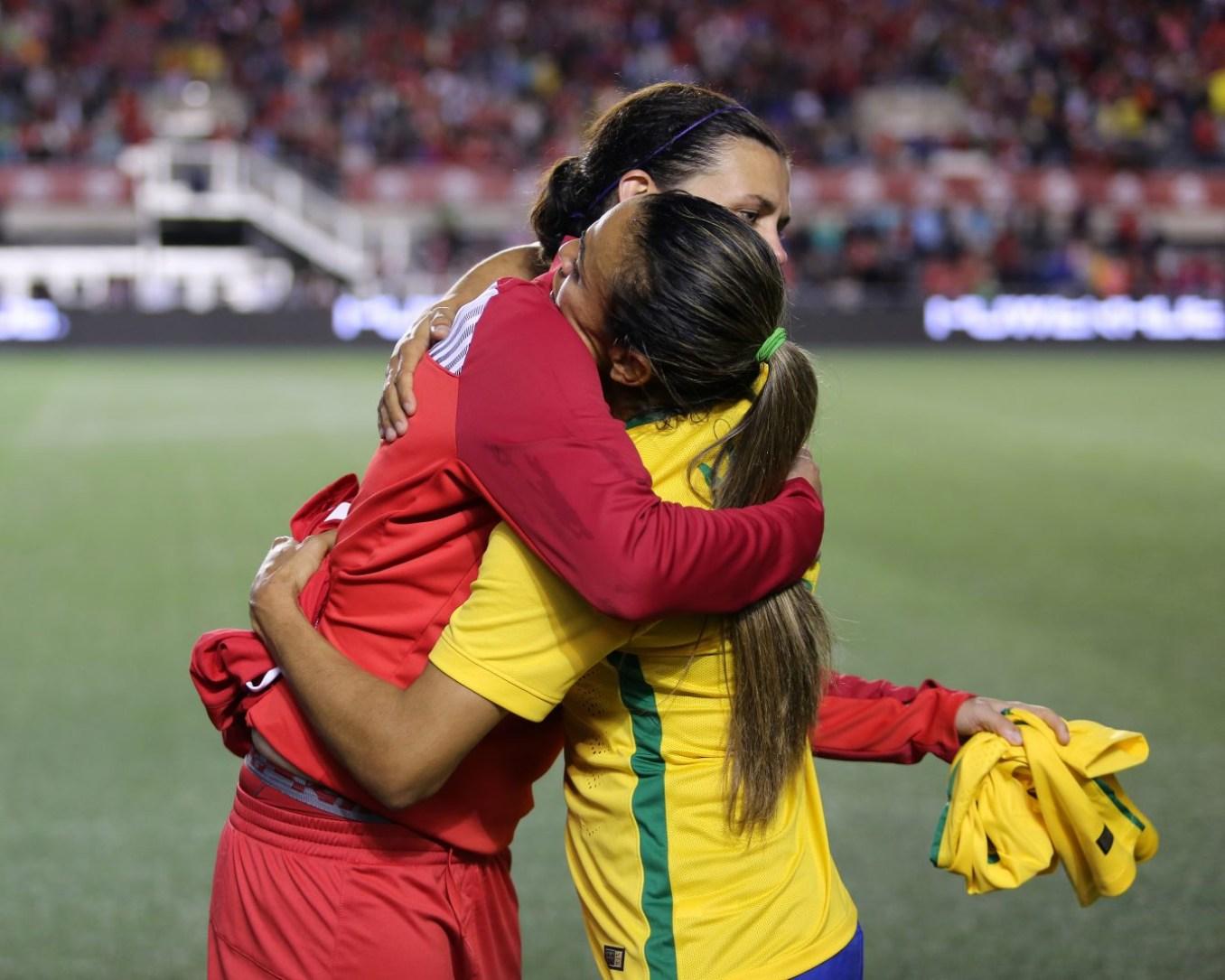 Sinclair and Marta hugging