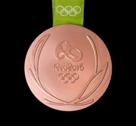 Rio 2016 bronze medal back