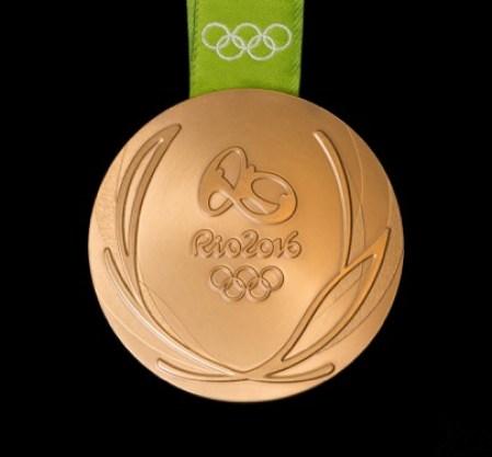 Rio 2016 gold medal back