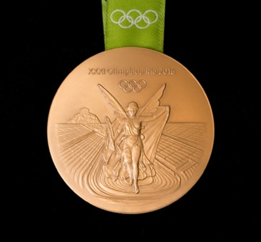 Rio 2016 gold medal front