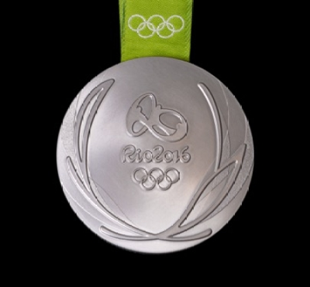 Rio 2016 silver medal back