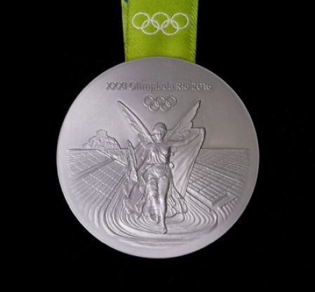 Rio 2016 silver medal front