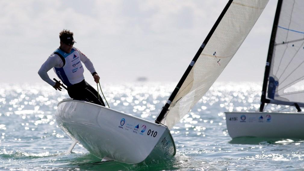 Tom Ramshaw sailing