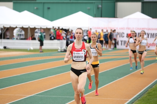 Nicole Sifuentes, headed to Rio for the 1500m after qualifying at the Canadian Track and Field Championships and Selection Trials for the 2016 Summer Olympic and Paralympic Games, in Edmonton, Alta. (Steve Boudraeu/COC).