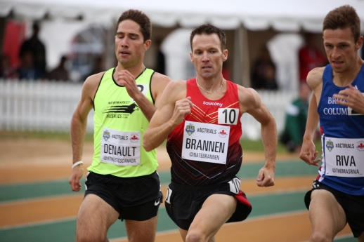 Nathan Brannan, going to Rio for the 1500m after qualifying at the Canadian Track and Field Championships and Selection Trials for the 2016 Summer Olympic and Paralympic Games, in Edmonton, Alta. (Steve Boudraeu/COC).
