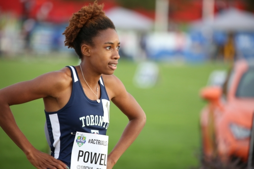 Micha Powell headed to Rio for the 4x400m relay after qualifying at the Canadian Track and Field Championships and Selection Trials for the 2016 Summer Olympic and Paralympic Games, in Edmonton, Alta. (Steve Boudraeu/COC).