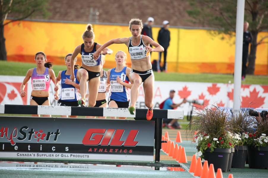 Genevieve Lalonde headed to Rio for the 3000m steeplechase after qualifying at at the Canadian Track and Field Championships and Selection Trials for the 2016 Summer Olympic and Paralympic Games, in Edmonton, Alta. (Steve Boudraeu/COC).