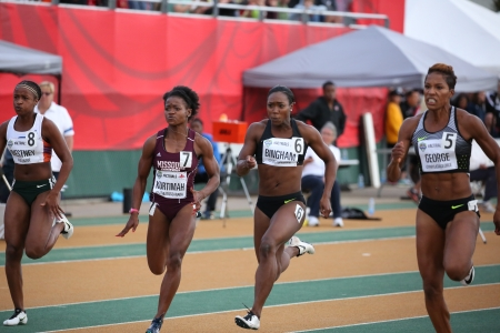 Marissa Kurtimah will be headed to Rio for the 4x100m relay at the Canadian Track and Field Championships and Selection Trials for the 2016 Summer Olympic and Paralympic Games, in Edmonton, Alta. (Steve Boudraeu/COC).
