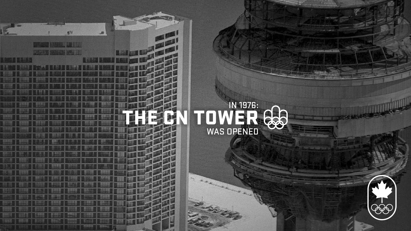 The year Montreal hosted Canada's first Olympic Games, the CN Tower opened in Toronto.