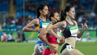Gabriela DeBues Stafford running