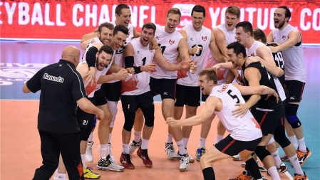 Canada defeated Portugal in Group 2 final and claimed a spot in the elite / Photo via FIVB