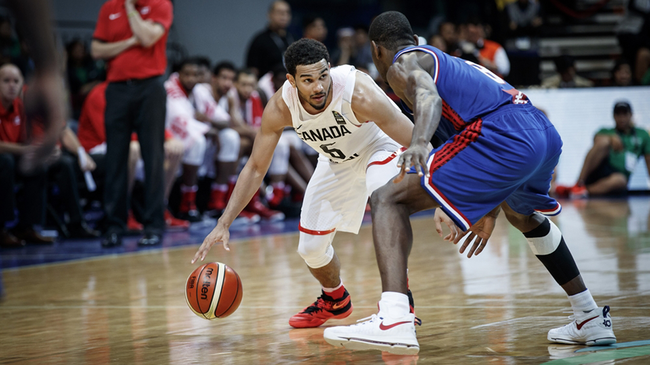 Cory Joseph had a team high 20 points in Canada's loss to France in the final of the Olympic qualification tournament on July 10, 2016 in Manila. (Photo: FIBA)