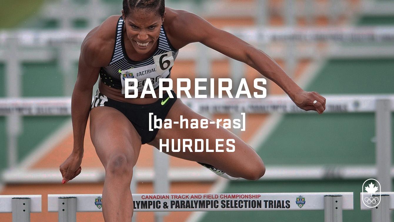 Hurdles (barreiras), Carioca Crash Course, athletics edition