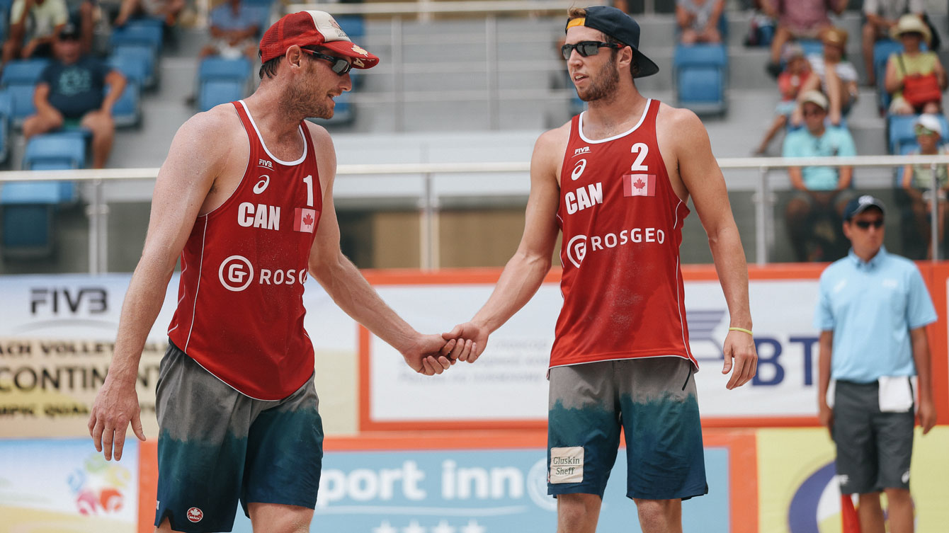 John Binstock and Sam Schachter were defeated by the Venezuelan duo / Photo via FIVB