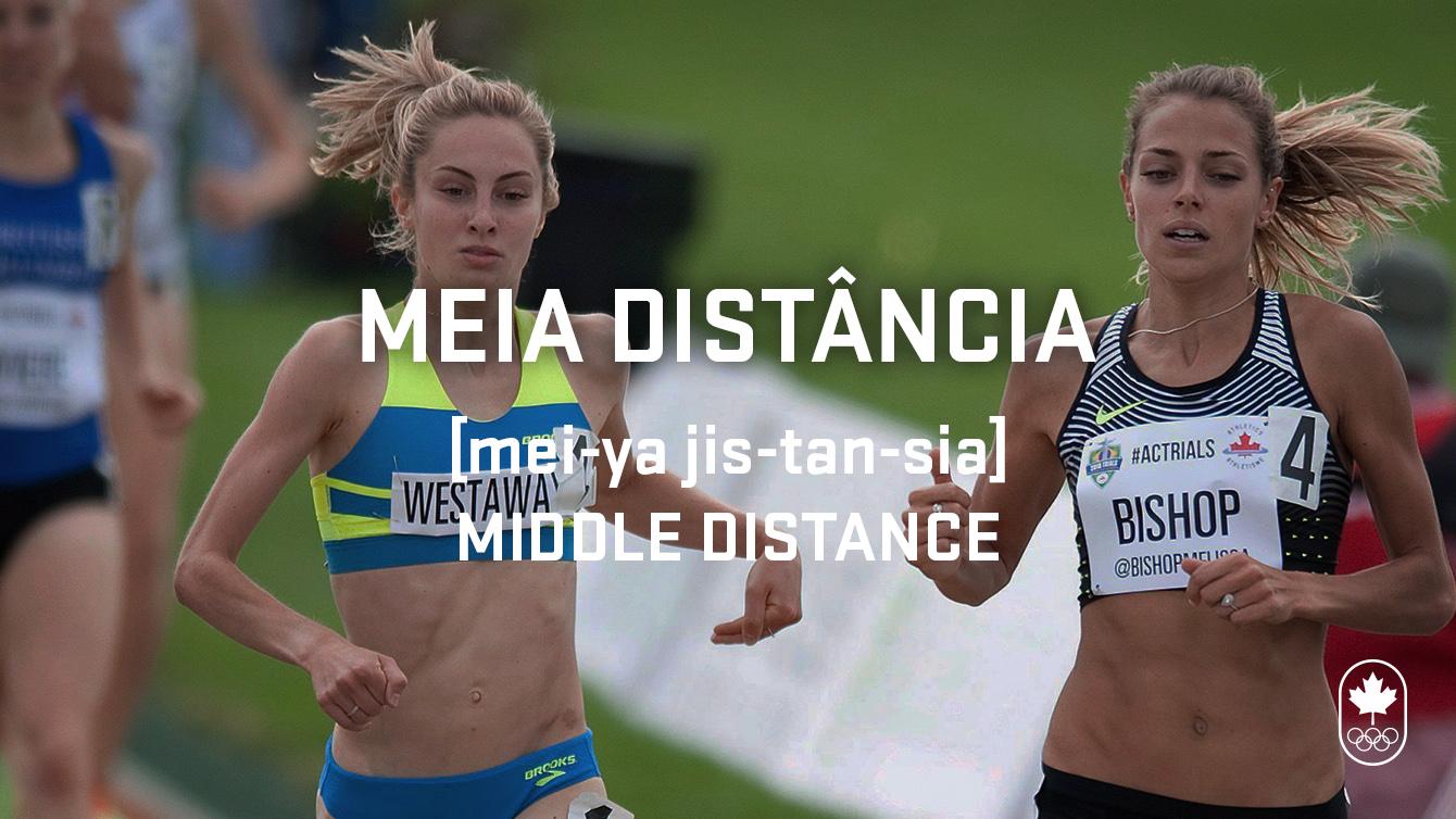 Middle distance (media distância), Carioca Crash Course, athletics edition