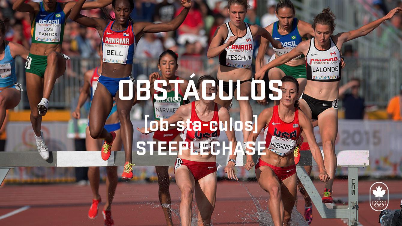 Steeplechase (obstáculos), Carioca Crash Course, athletics edition