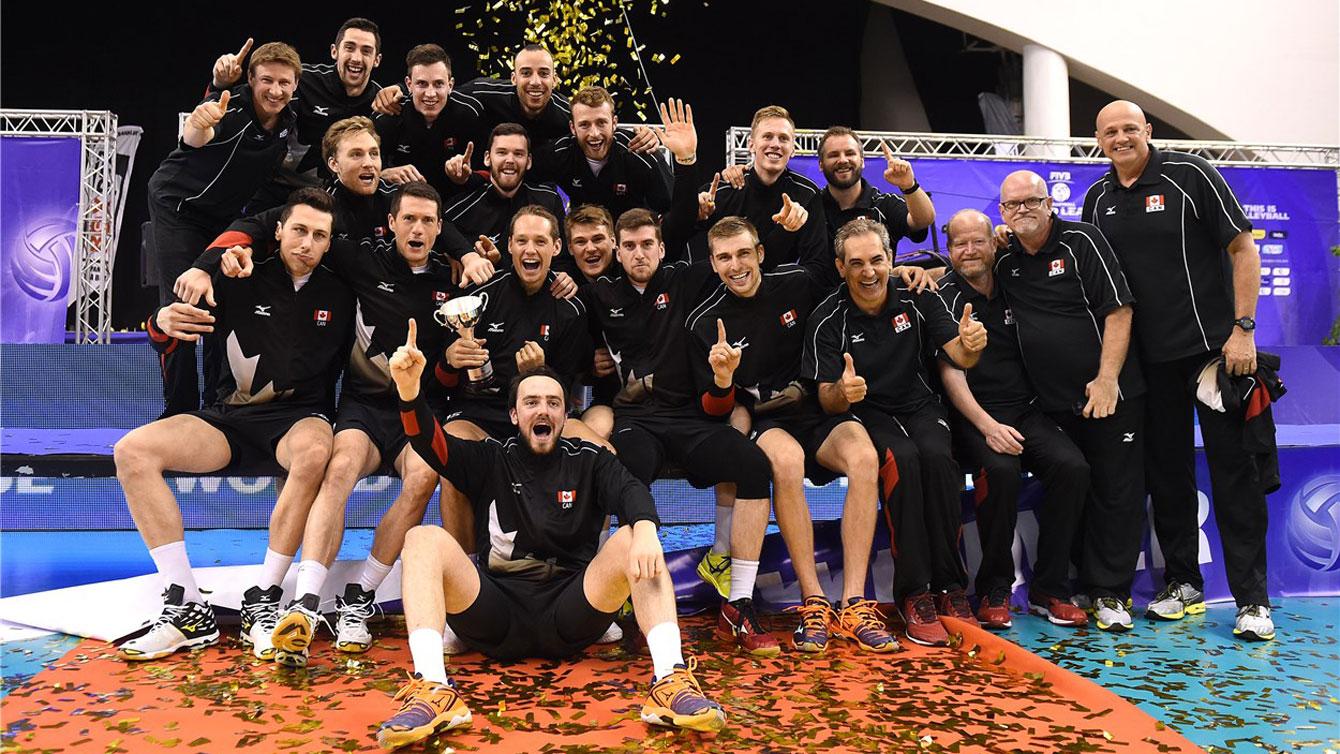Canada wins 2016 Volleyball World League, July 10 / Photo via FIVB
