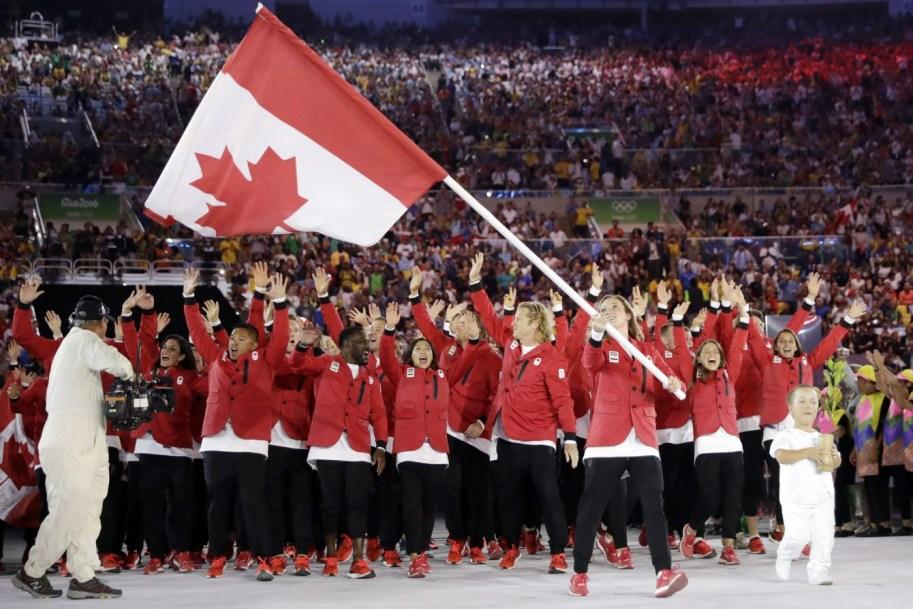 Team Canada walks into Rio Opening Ceremony