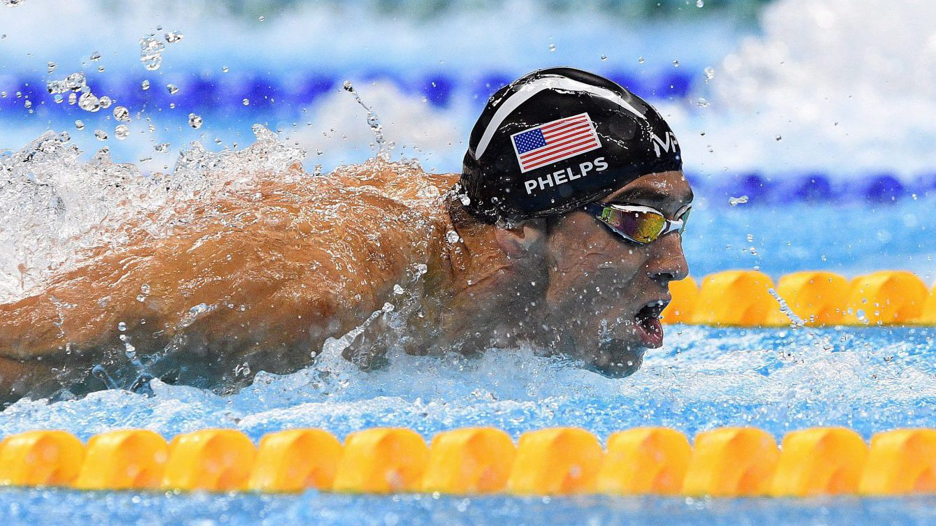 United States' Michael Phelps races the men's 4x100-metre medley relay during the 2016 Olympic Summer Games in Rio de Janeiro, Brazil on Saturday, Aug. 13, 2016. THE CANADIAN PRESS/Sean Kilpatrick