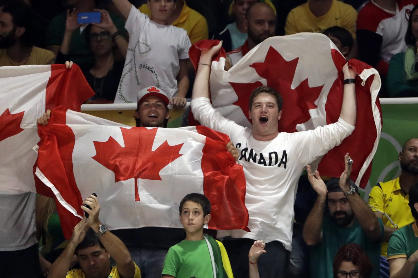 Rio 2016: Fans at men's volleyball