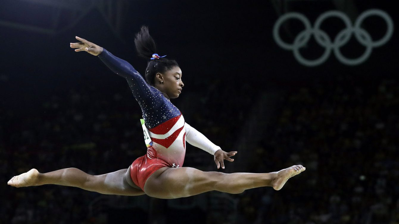 United States' Simone Biles performs on the balance beam during the artistic gymnastics women's team final at the Rio 2016, Rio de Janeiro, Brazil. (AP Photo/Rebecca Blackwell, File)