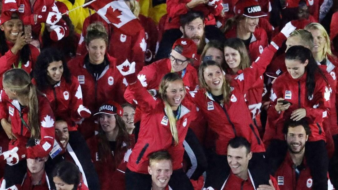 Team Canada at the Rio 2016 Closing Ceremonies