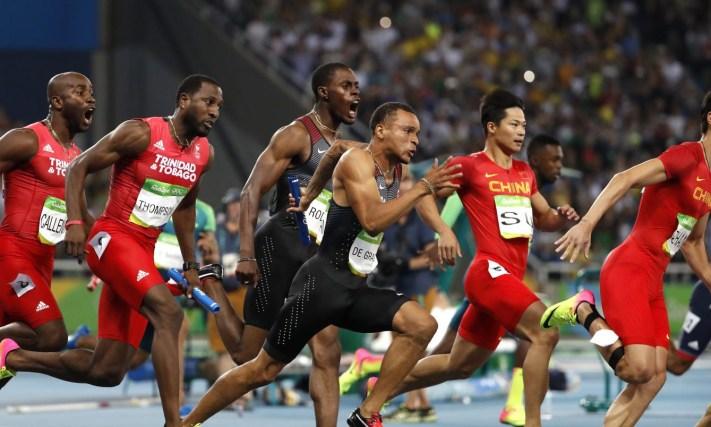 Men's 4x100 Relay, Rio 2016. August 19, 2016. COC Photo/Stephen Hosier
