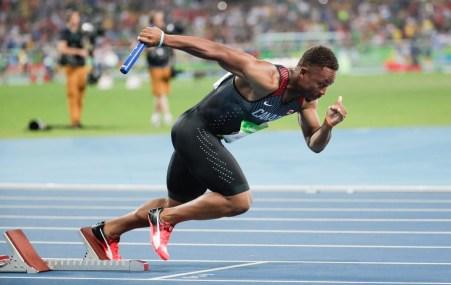 Men's 4x100 Relay, Rio 2016. August 19, 2016. COC Photo/Jason Ransom