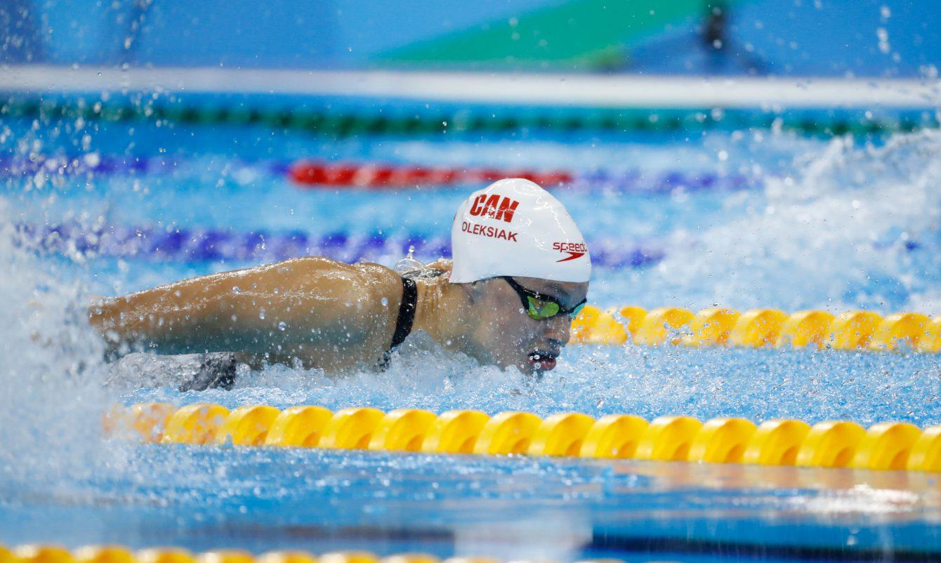 Penny Oleksiak, Rio 2016. August 6, 2016. COC Photo/Mark Blinch