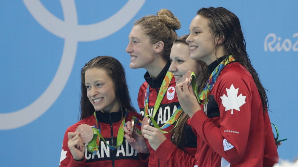 Canada wins second Olympic swimming relay medal at Rio 2016