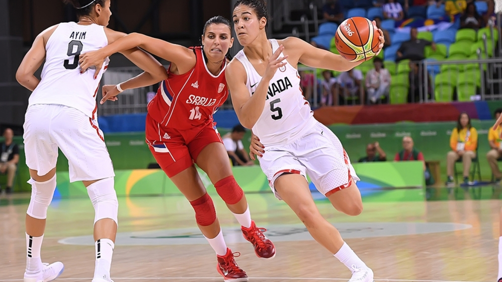 Canada stages late-game comeback to defeat Serbia in women's basketball