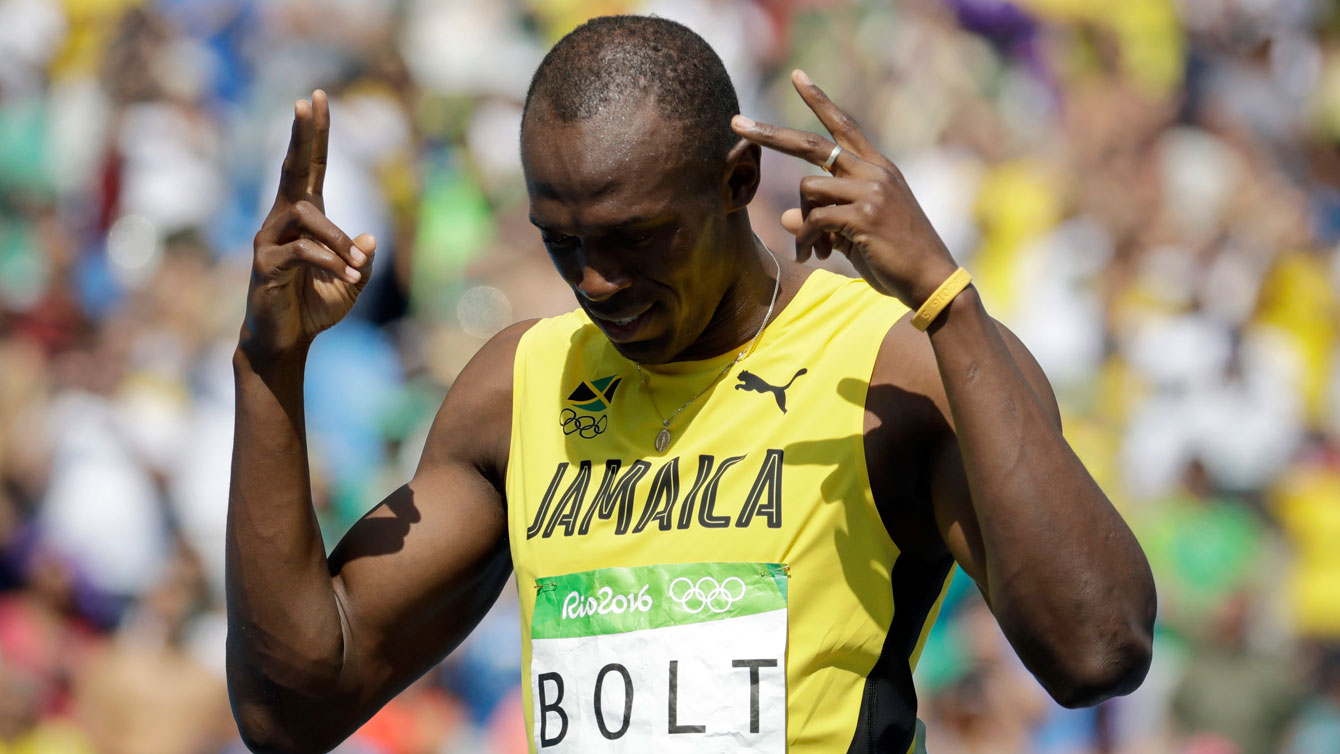 Jamaica's Usain Bolt ahead of the 200m Olympic heats on August 16, 2016 in Rio de Janeiro.