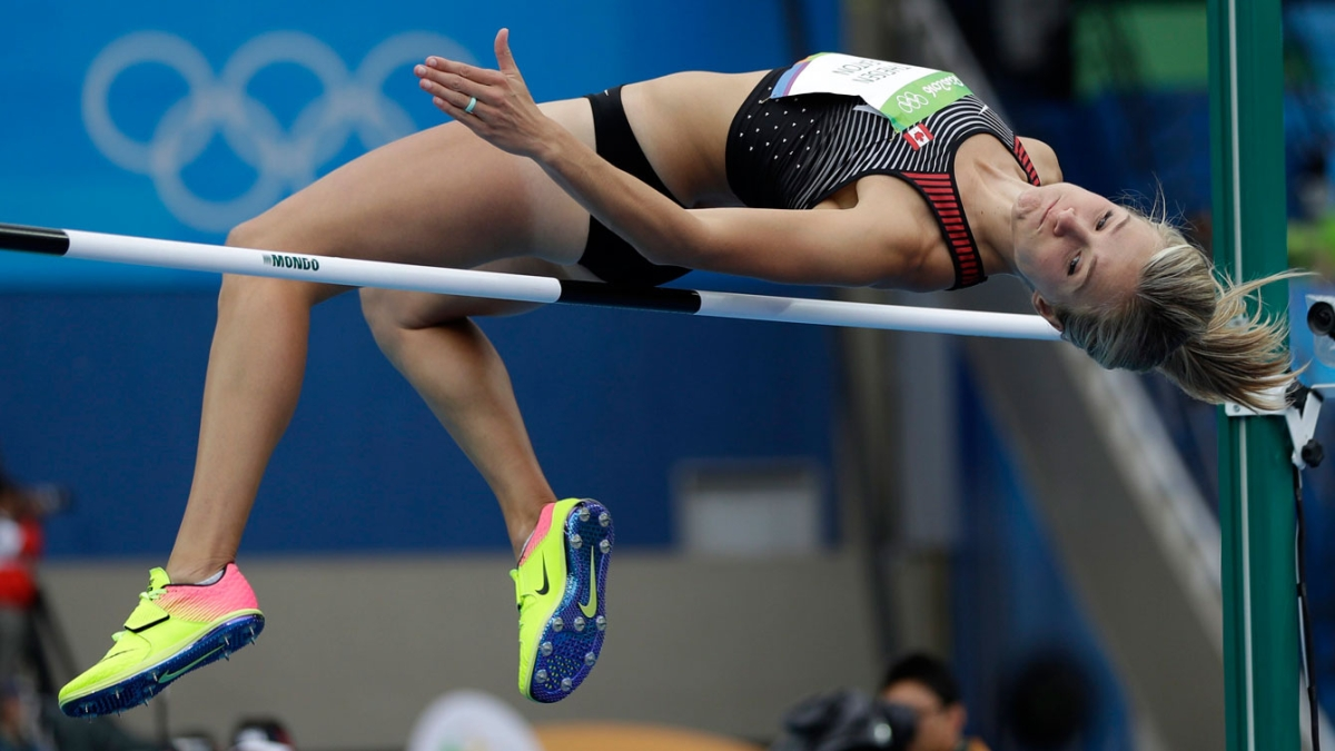 Brianne Theisen-Eaton competes in high jump