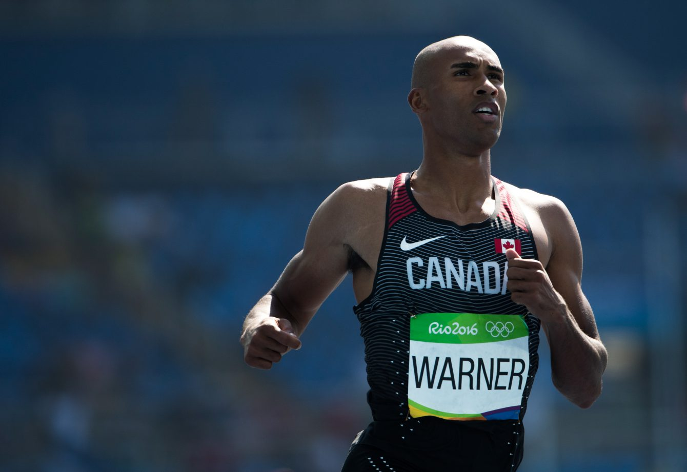 Damian Warner competes in the Decathlon at the Olympic Games in Rio de Janeiro, Brazil, Wednesday, August 17, 2016. COC Photo by Stephen Hosier