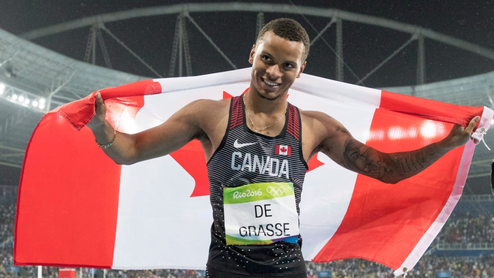 De Grasse doubles up on Olympic sprint medals with Rio 200 metre silver