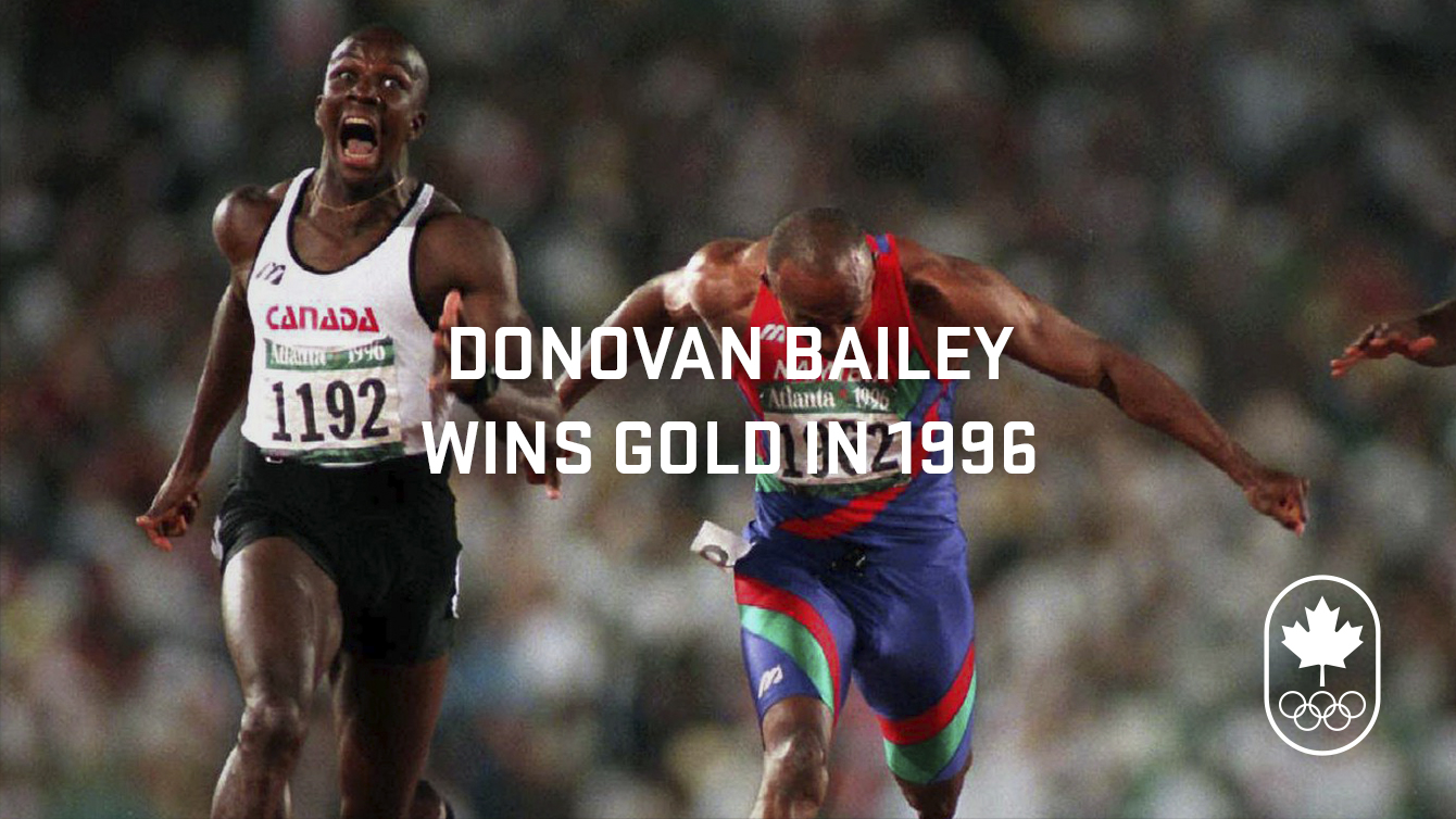 What's up in 1996: Donovan Bailey becomes the fastest man in the world