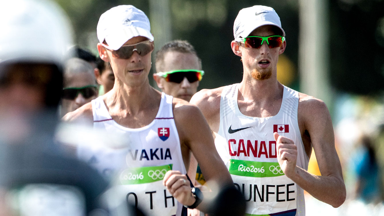 Evan Dunfee in the Rio 2016 race walk