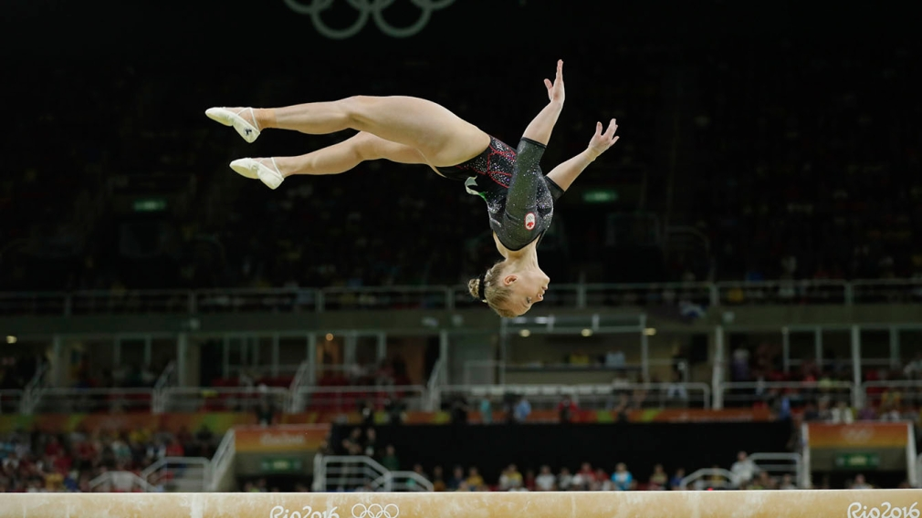 Ellie Black competes on beam on August 11 2016 at Rio 2016 (Jason Ransom/COC)