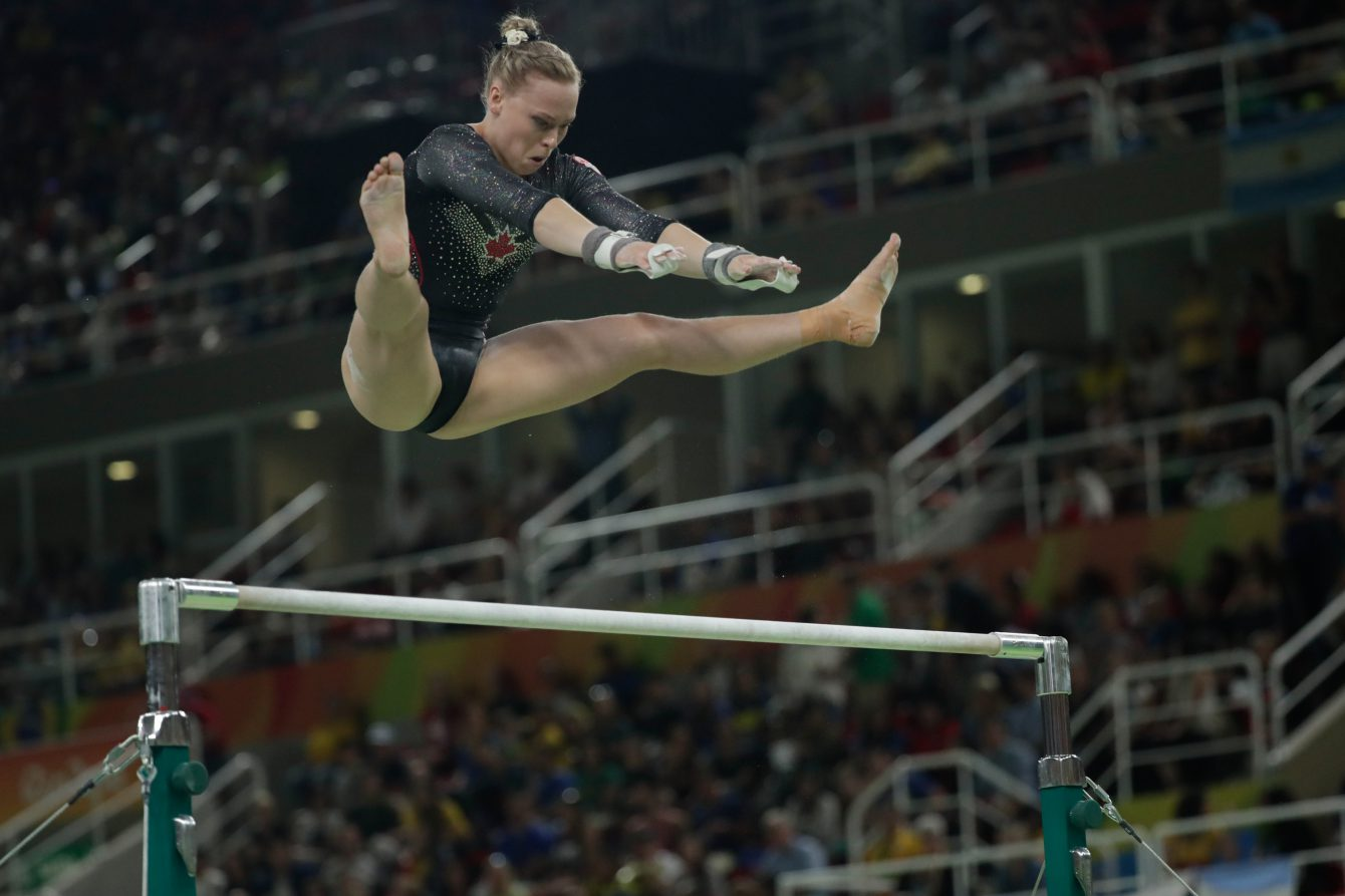 Ellie Black on uneven bars at Rio 2016