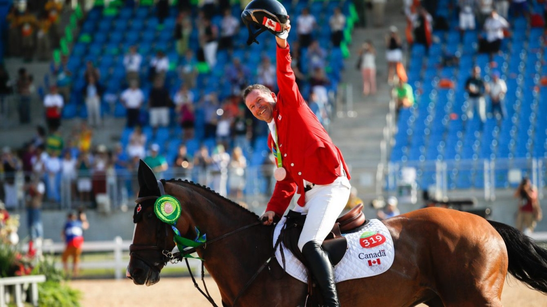 Eric Lamaze wins bronze in individuals show jumping on Fine Lady Five during Rio 2016 (March Blinch/COC)