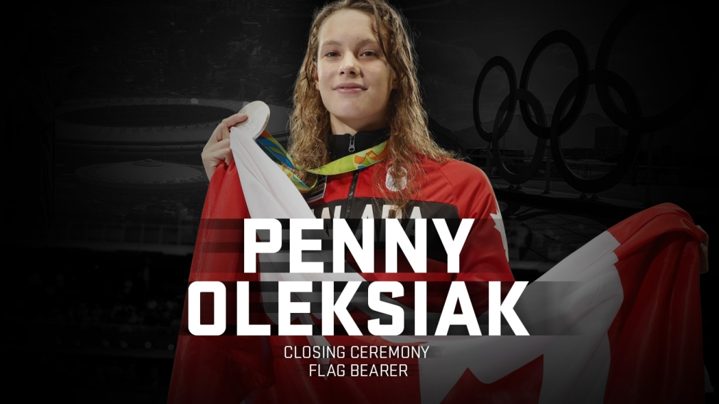 """Typical"" Penny Oleksiak to be Olympic Closing Ceremony flag bearer in Rio"