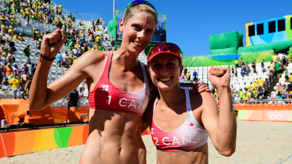 Pavan & Bansley: only Canadian duo remaining in the beach quarterfinals