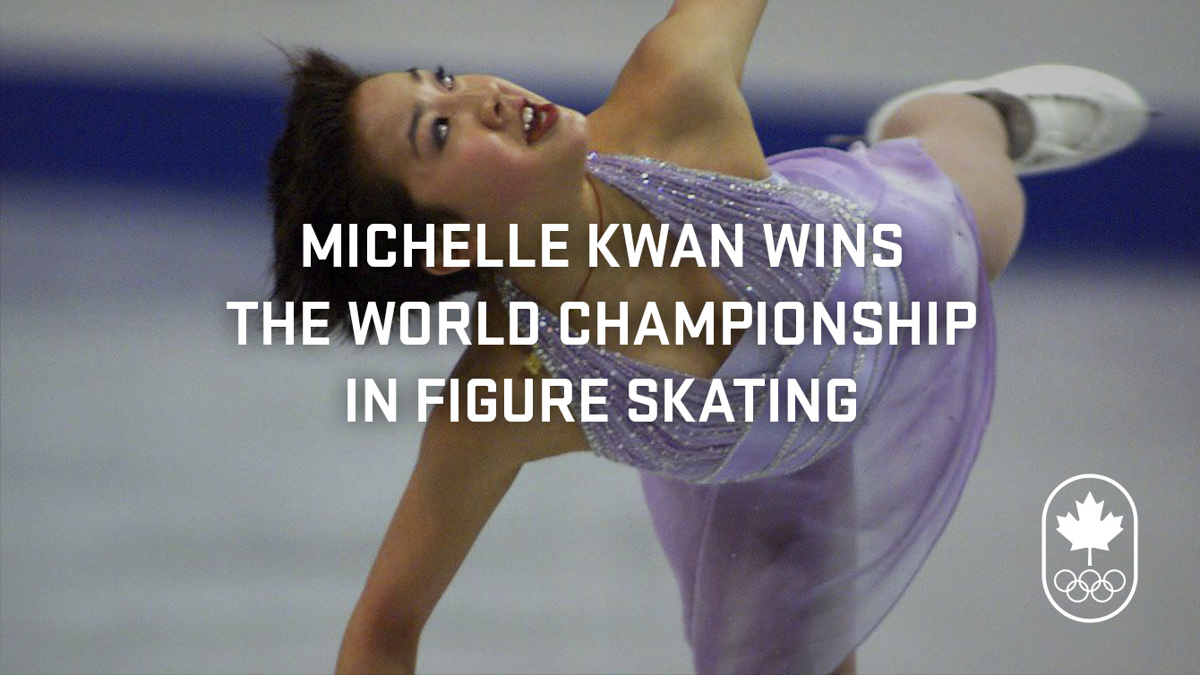 Michelle Kwan wins her first world championship.
